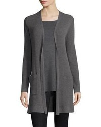 Eileen Fisher Wool Rib Knit Cardigan