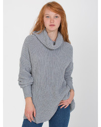 American Apparel Unisex Oversized Cotton Fisherman Turtleneck