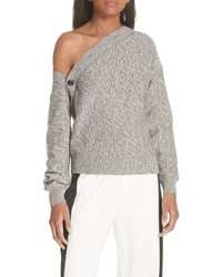 MM6 MAISON MARGIELA Asymmetrical Button Sweater