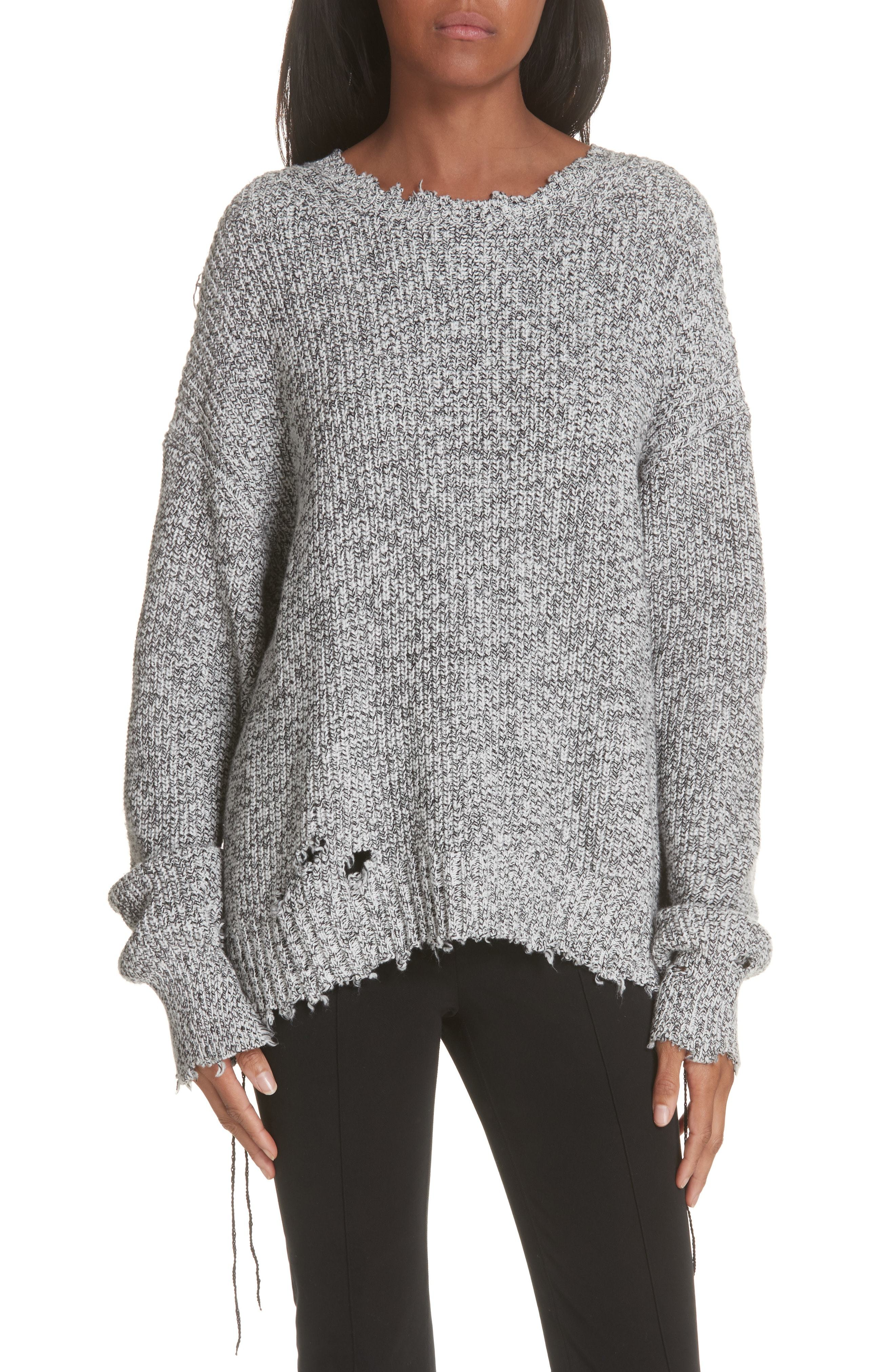 ... Oversized Sweaters Helmut Lang Distressed Sweater 03399396a