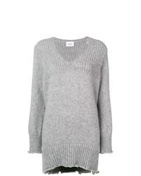 Dondup Frayed Hem Long Sweater