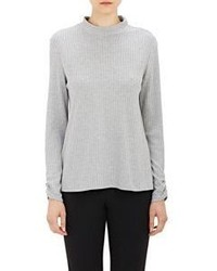 Barneys New York Hanne Ribbed Sweater Grey Size 0 Us