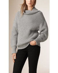 Burberry Ribbed Cashmere Cotton Sweater