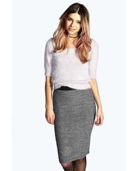 Boohoo Suzy Knitted Elasticated Waist Pencil Midi Skirt