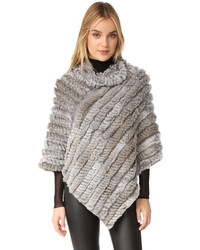 Knit fur poncho medium 835022