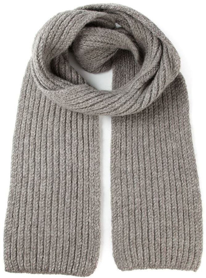 demeulemeester grise ribbed knit scarf where to buy