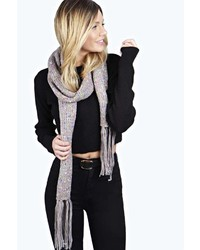 Boohoo Cassie Fleck Chunky Knit Scarf