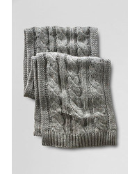 Lands' End Donegal Cable Knit Scarf