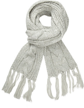 Dorothy Perkins Mint Chunky Cable Scarf