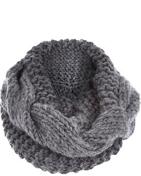 River Island Grey Chunky Cable Knit Snood