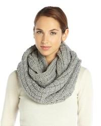 Wyatt Grey Wool Blend Chunky Box Weave Knit Infinity Scarf