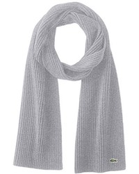 Lacoste Classic Wool Ribbed Scarf