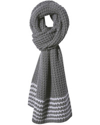 Joe Fresh Moss Knit Scarf Dark Grey Mix