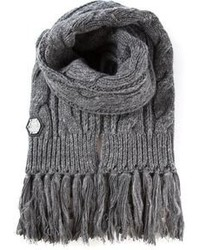 Philipp Plein Cable Knit Scarf
