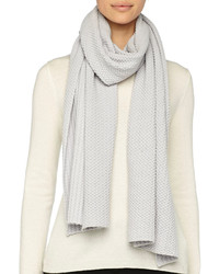 Marc Jacobs Textured Knit Scarf Gray