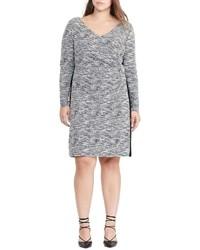 Plus size knit sheath dress medium 827890