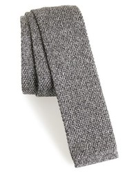 Eleventy Solid Knit Silk Tie
