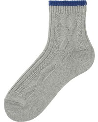 Uniqlo Cable Knit Ankle Socks