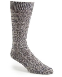 Mr Gray Textile Slub Knit Socks