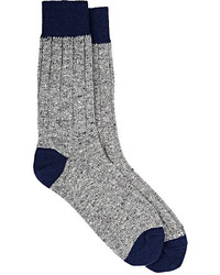 Barneys New York Rib Knit Cashmere Blend Socks