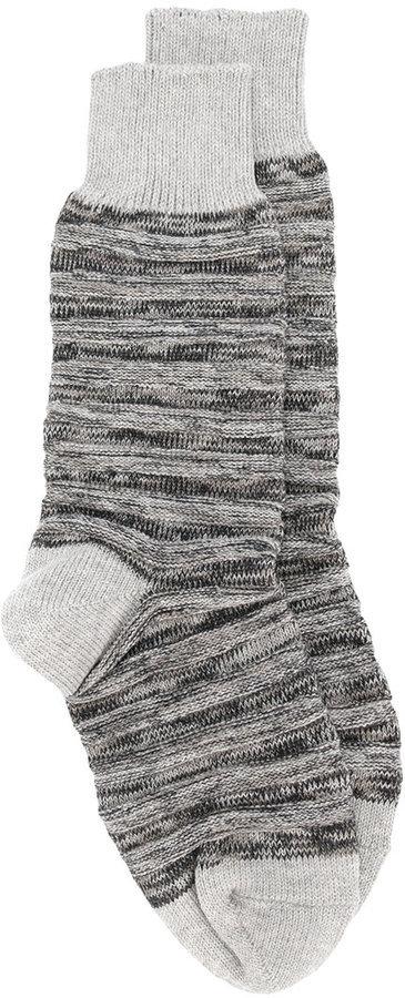 Issey Miyake Ribbed Knit Socks