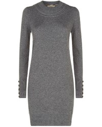 Burberry Cable Knit Trim Cashmere Sweater Dress