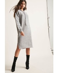 Forever 21 Marled Hooded Sweater Dress