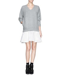 Nobrand Sweater And Quilted Skirt Combo Dress