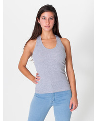 American apparel 2x1 rib racerback tank medium 218666