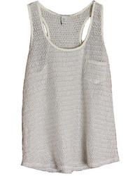 ChicNova Grey Knit Tank Top With Pocket