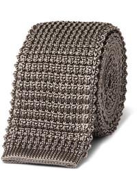 Lanvin 5cm Grosgrain Trimmed Knitted Silk Tie