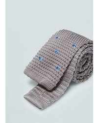 Mango Outlet Polka Dot Pattern Knit Tie