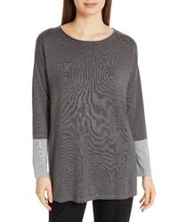 Eileen Fisher Colorblock Sleeve Tunic