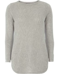 Dorothy Perkins Petite Grey Knitted Tunic