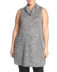 Plus size cowl neck sleeveless knit tunic medium 1160278