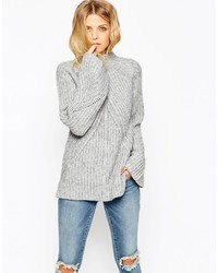 Asos Collection Chunky Sweater With High Neck And Moving Rib