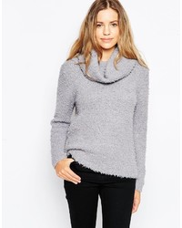 Brave Soul Chunky Knit Cowl Neck Sweater