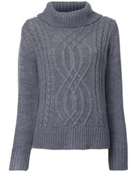 Cable knit turtleneck jumper medium 1158398