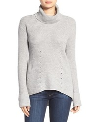 Chelsea28 Rib Knit Turtleneck Sweater