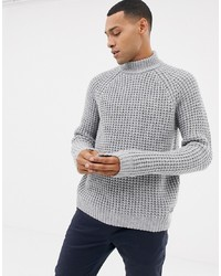 Esprit Chunky Waffle Turtle Neck Jumper In Wool Blend