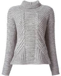 Duffy Cable Knit Turtle Neck Sweater