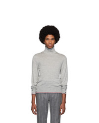 Thom Browne Grey Cashmere Classic Turtleneck