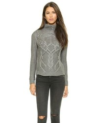 Hand knit turtleneck sweater medium 110739