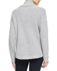 French Connection Honeycomb Knit Mock Turtleneck Sweater Light ...
