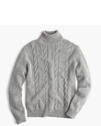 Italian cashmere cable turtleneck sweater medium 1148274