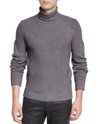 Litlehurst mixed knit turtleneck sweater medium 699936