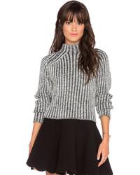 J.o.a. Mini Rib Turtleneck Sweater