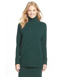 Petite Halogen Mock Turtleneck Sweater