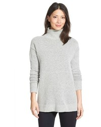 Petite halogen mock turtleneck sweater medium 1158432