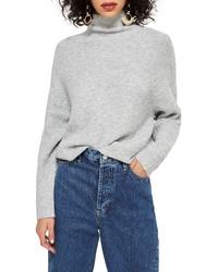 Topshop Raglan Turtleneck Neck Sweater